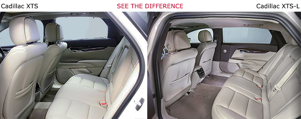 See the Difference XTS-L Cadillac Long Door Interior